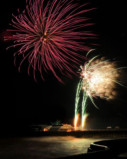 New Year's Day 2019 fireworks over Cromer Pier. Picture: DENISE BRADLEY