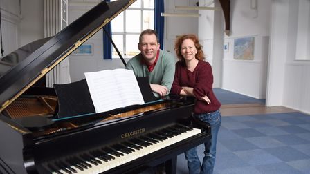 Keith Hobday and Lucy Murphy at the Belfry Centre for Music and Arts, one of the projects which has