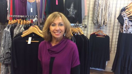 Jane Clarke owns Lily B boutiques shop in Church Street, Cromer. Pictures: David Bale