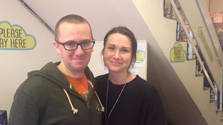 Max Murphy and Emma Dent are joint owners at Upstairs Downstairs giftshop in Church Street, Cromer.