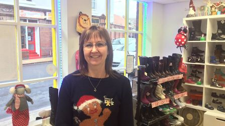 Happyfeet childrens shoeshop in Hamilton Road, Cromer is owned by Alison Ewbank. Pictures: David Bal