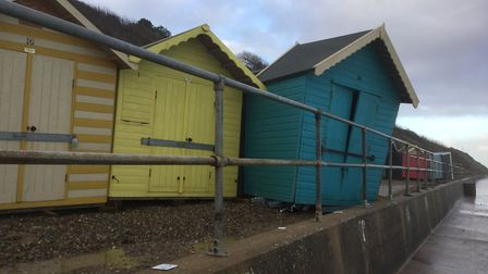 Damage to beach huts in Overstrand, caused by the high tides and flooding on January 8, 2019. Pictur
