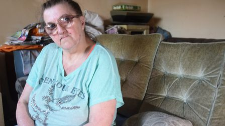 Pauline Bloomfield of North Walsham, struggling after her PIPs (personal independent payments) were