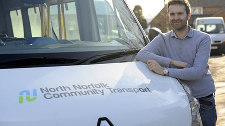 North Norfolk Community Transport chief executive Matt Townsend with one of the vehicles that are us