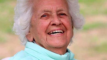 Molly Johns, who has also reached her 90th birthday milestone. Picture: Mundesley Golf Club.