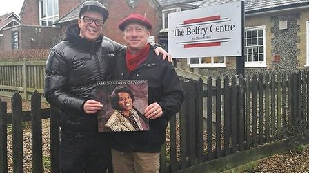 DJ Madhatter, left, and Paul Hensby outside Overstrand's Belfry. Picture: PAUL WELLINGS
