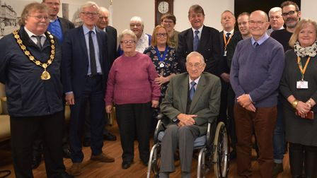 Guests celebrate the opening of the Friendship Room at North Walsham War Memorial Hospital. Pictures
