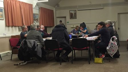 Councillors at the North Walsham Town Council meeting on January 29, 2019. Picture: STUART ANDERSON