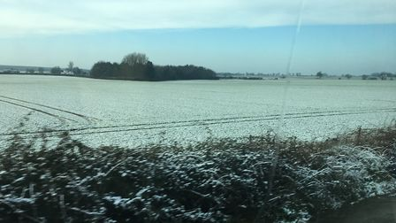 Snow in north Norfolk on the morning of January 30, 2019. Picture: JESSICA FRANK-KEYES