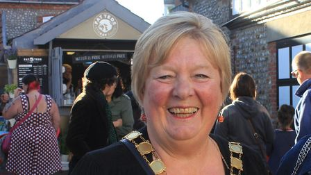 Sheringham mayor Madeleine Ashcroft will present the awards.Photo: KAREN BETHELL