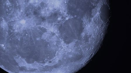 A segment of a full moon. Image taken by North Norfolk Astronomical Society member David Jackson