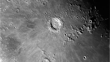 A close-up of moon craters Reinhold, Copernicus and Eratosthenes. Image taken by North Norfolk Astro