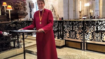 Lysbeth Morgan-Hart has led a performance at St Paul's Cathedral in London. Picture: SUPPLIED BY LY