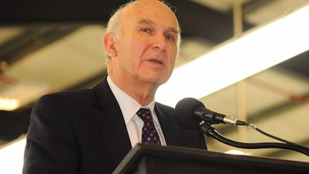Vince Cable, leader of the Liberal Democrats, is coming to North Walsham. Picture: Denise Bradley