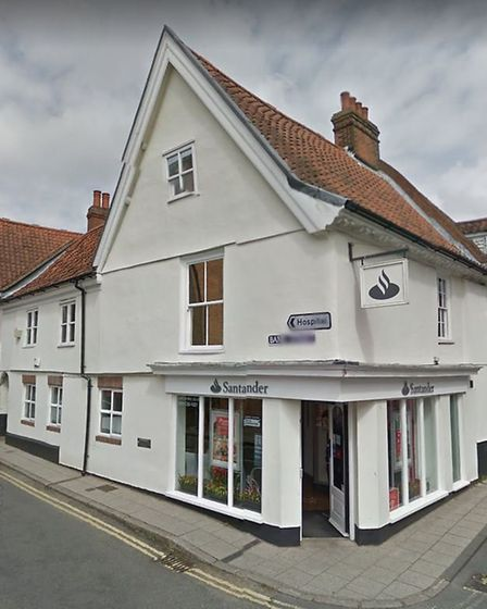 The Santander branch in Red Lion Street, Aylsham. Picture: GOOGLE STREETVIEW