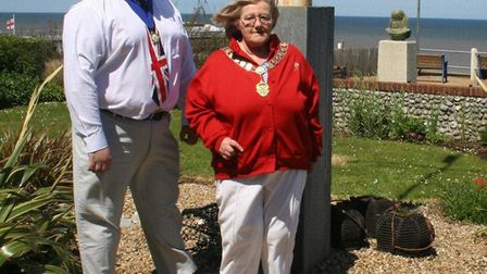 Gwen Smith and David Pritchard at a Diamond Jubillee event in Cromer's North Lodge Park in 2012. Pic