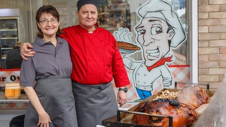Anthony and Bridget Mattocks have opened Norfolk's Pie Man in Sheringham. Picture: christaylorphoto.