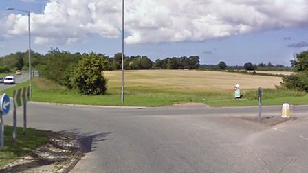 Diesel was spilled on the road after a crash in Cawston. Picture: Google Maps