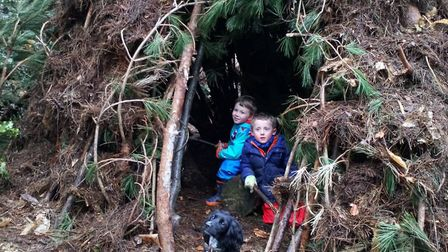 Shelter building at Holt Country Park. Pictures: NNDC