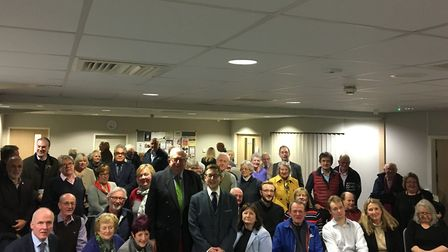 Duncan Baker with members of North Norfolk Conservative Association and Keith Simpson MP. Picture: N