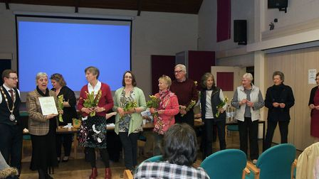 Volunteers collecting awards in 2017. Picture: Rodney Smith