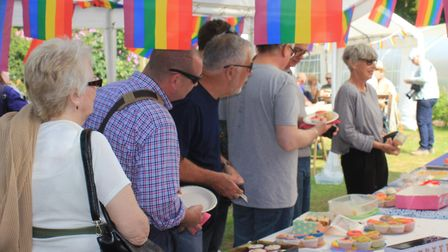 Rainbow cakes on sale in aid of Norwich Pride at the Big Gay Out in 2018. A similar event is planned