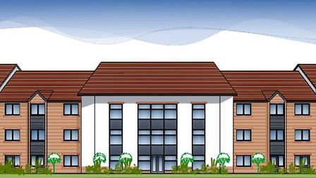 An illustration of a proposed 66-bed care home for older people in Holt. Image: LNT CONSTRUCTION/PLA