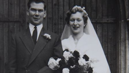 Yvonne and Terry Nolan on their wedding day, in 1957. Picture: SUPPLIED by Yvonne and Terry Nolan