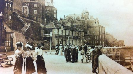 Visitors stroll past the Bath House in Cromer in the late 19th century. Picture: ARCHANT LIBRARY