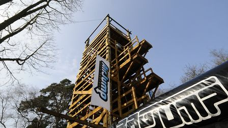 The 16-metre-high Air Jump at Hilltop, Sheringham.Picture: ANTONY KELLY
