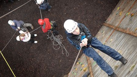 The climbing wall at Hilltop Outdoor Activity Centre, which celebrates its 30th anniversary this yea