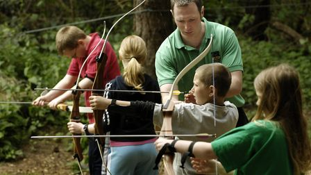 Archery at Hilltop Outdoor Activity Centre, which celebrates its 30th anniversary this year.Photo: B