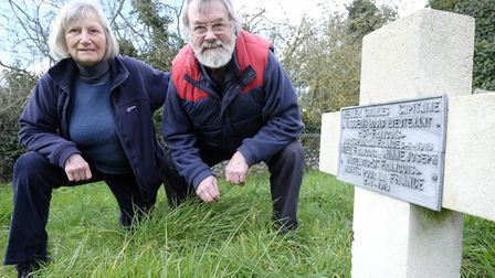 Archive photo from 2016, showing Tony Nelson, who died in 2017, with his wife Hilary at the memorial