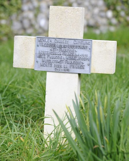 The memorial to the crew of the St Francois at All Saints church, Upper Sheringham. Picture: MARK BU