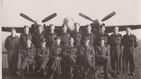 The medal presentation where Pilot Officer Dickie Colbourne was given the George Medal for his actio