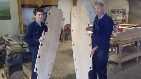 The group have to rebuild the aircraft's wooden frame. Photo: The People's Mosquito