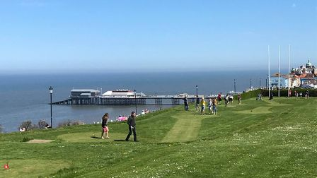 Cromer Putting Green overlooks the town's famous pier. Photo: Olly Deakin