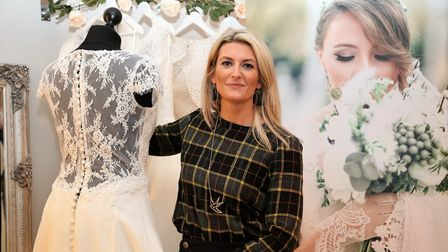 Kim Butcher, who has opened a new shop in Holt called The Norfolk Bride. Picture: JUDE NEWSTEAD-HOWA