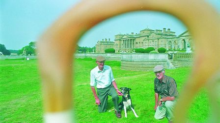 Rob McLean, right, at the English national sheepdog trials in 1997. Picture: ARCHANT LIBRARY