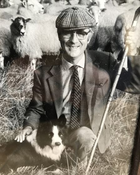 Rob McLean, Norfolk sheepdog handler, with his collie, Tom. Picture: ARCHANT LIBRARY
