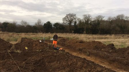 An archaeological dig has started at Roughton, near Cromer. Pictures: David Bale