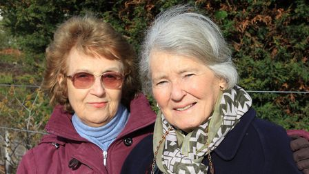 Friends Mavis Lowe and Ursula Morris, who setting off for a shopping trip to Norwich from Sheringham