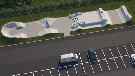 A view of the planned Sheringham skate park. Image: MAVERICK INDUSTRIES