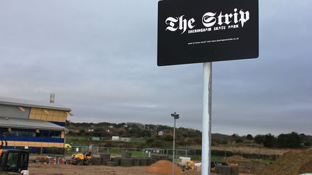Sheringham Skate Park, which is being replaced with a new facility after being demolished to make wa