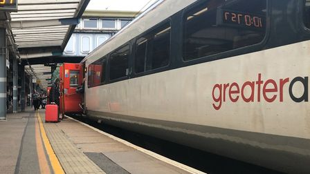 Services between Norwich and Cromer were suspended for more than an hour after the vehicle became st