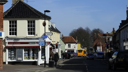Holt's Market Place remains closed for roadworks. Picture: MARK BULLIMORE