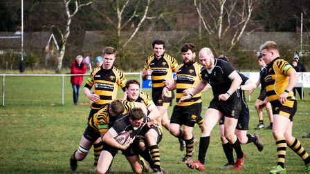 Ely stop a Holt attack in its tracks on Saturday Picture: LUCY GOFFIN
