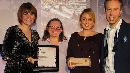 L-R , Emma Slocombe, lead curator, Fiona Hall, visitor experience consultant for the East of England