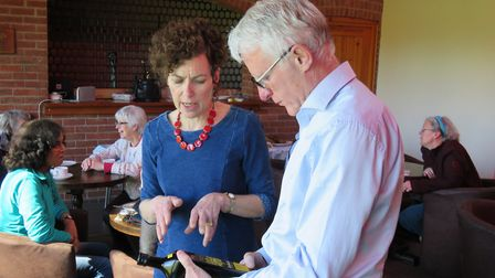 Janet Terry and MP Norman Lamb at the 2017 Fairtrade event. Pictures: Mike Terry