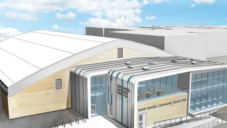 The proposed community sports hub in Cromer. Image: NORTH NORFOLK DISTRICT COUNCIL